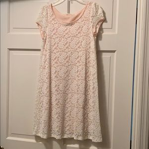 Small light pink lace dress